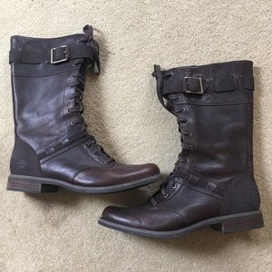 Timberland lace up women's boots- size 10